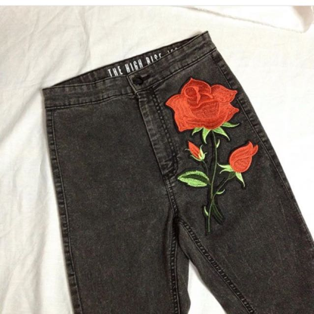 FACTORIE EMBROIDERED HW JEANS