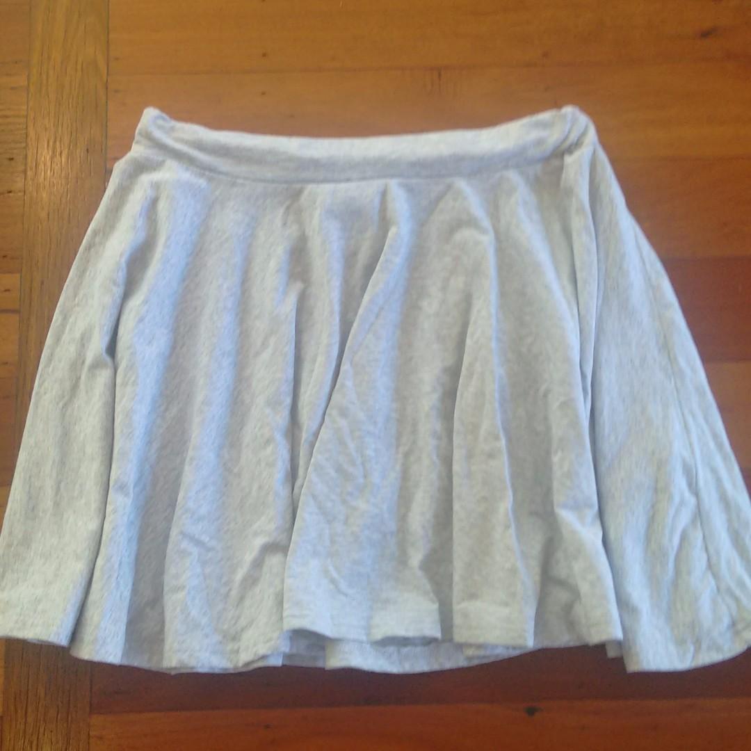 Factorie gray cotton skater skirt