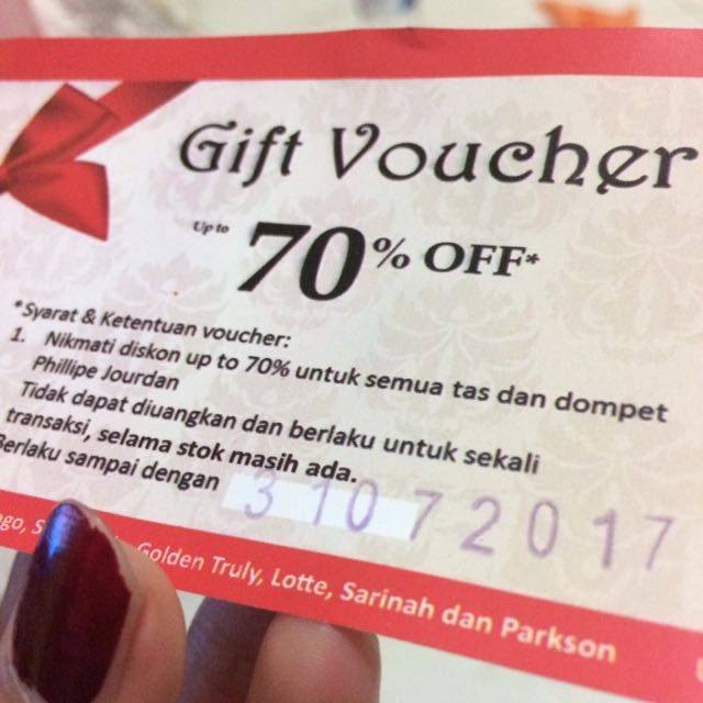 Gift Voucher Up To 70%