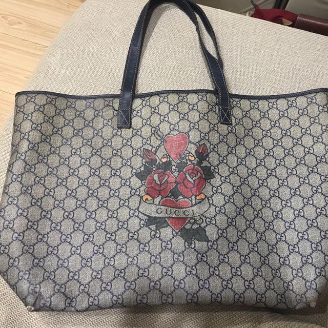 Gucci 正品 購物肩包