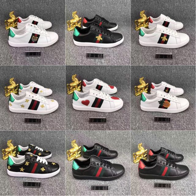 26cb0290170 GUCCI Ace Embroidered Low-Top Sneaker Bee Floral pineapple tiger shoe  sneakers