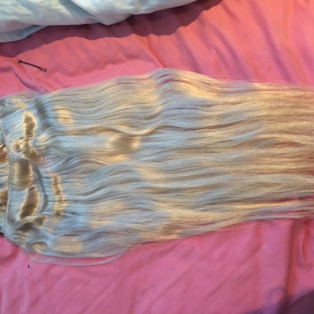 Hair Extensions Blonde Clip
