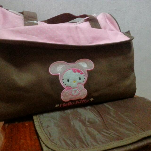 hello kitty baby diaper bag with changing pad