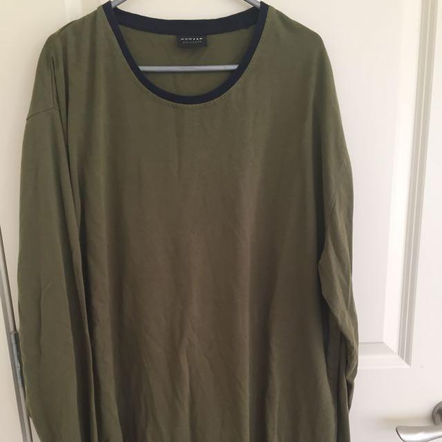 Huffer Green Long Sleeve/Crew