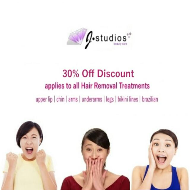 IPL Hair Removal 30% OFF Discount. Why still waxing? Go for IPL hair removal now!