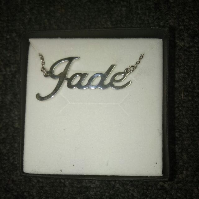 """Jade"" Name Necklace In Sterling Silver"