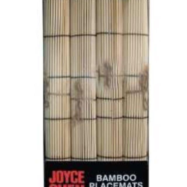 Joyce Chen 4 Piece Bamboo Placemats