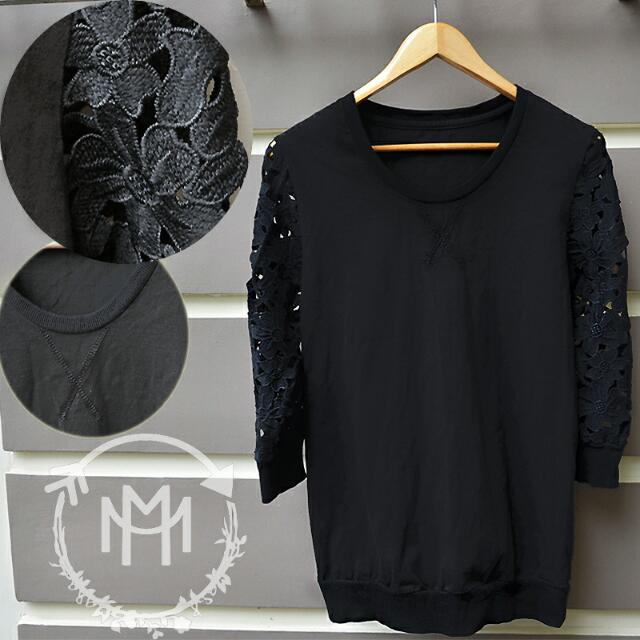 Lace Sleeved Pull Over - Zara Inspired