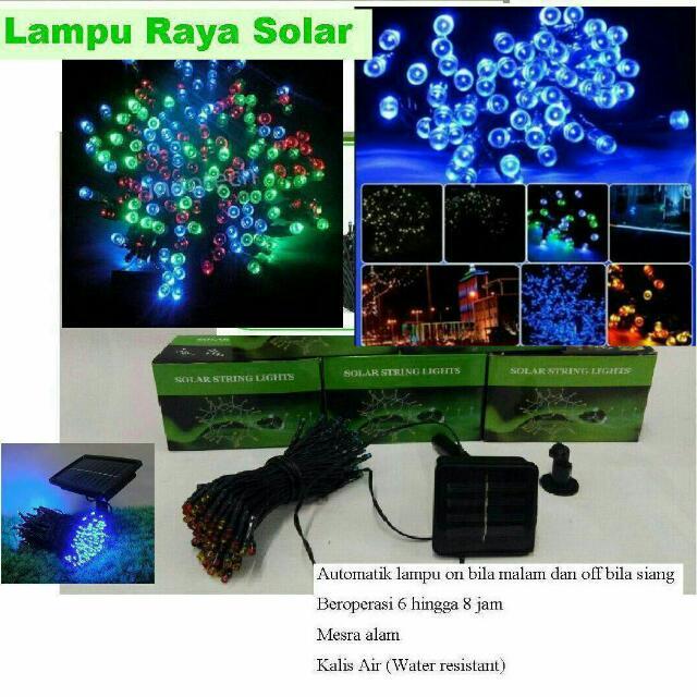 Lampu Raya Solar 100 Jimat Elektrik Home Furniture Décor On Carou