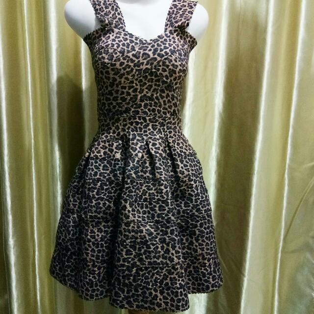 leopard mini dress import