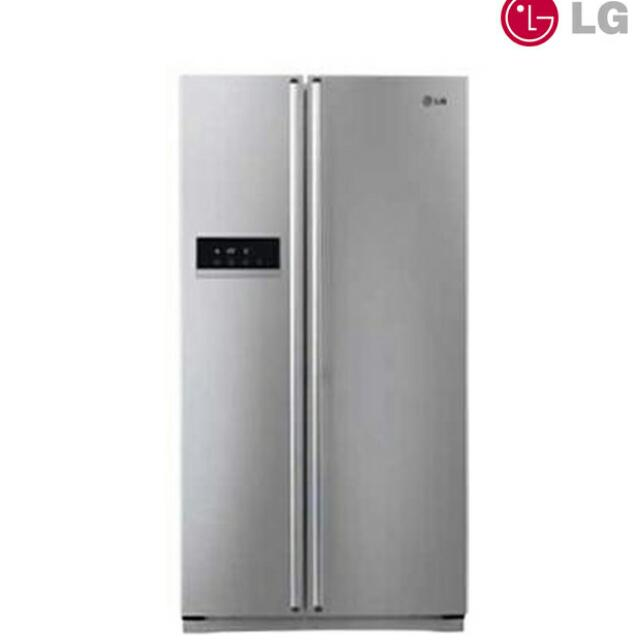 Lg Side Door Refrigerator In Platinum Silver Home Appliances On