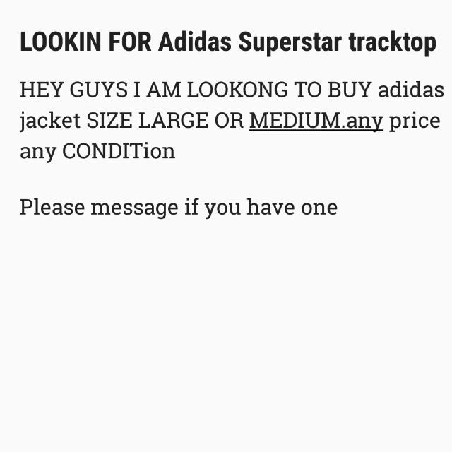 Looking For Adidas Jacket