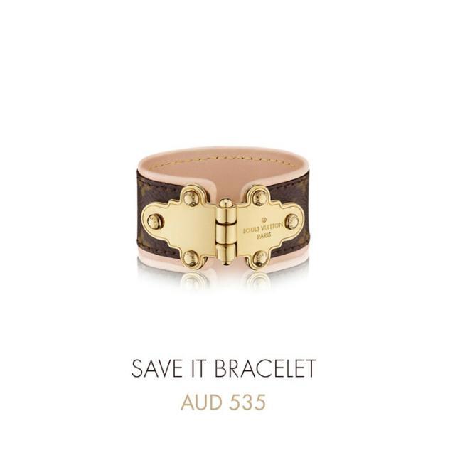 Authentic Louis Vuitton Save It Bracelet
