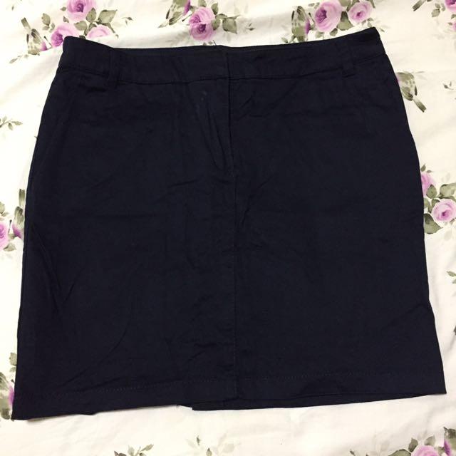 Mango Basics Navy Skirt US 4