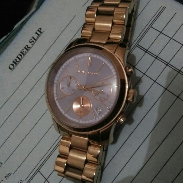 MK Authentic Watch Rosegold