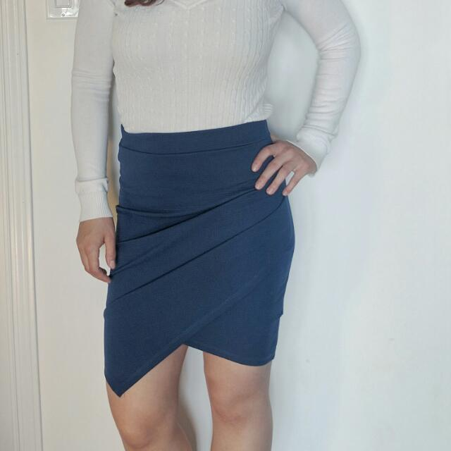 Navy Funky Pan Skirt