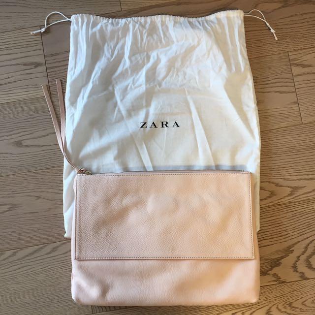 NEW Zara Leather Clutch