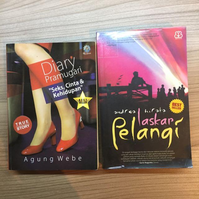 Novel - Diary Pramugari, Laskar Pelangi