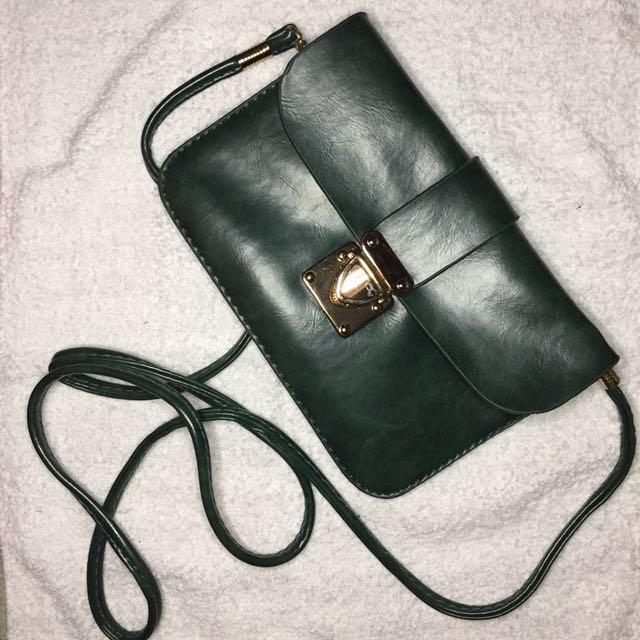 Olive Green Sling or Body Bag
