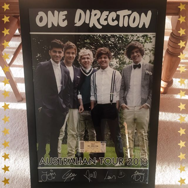 One Direction 2013 Take Me Home Australian Tour Framed Poster
