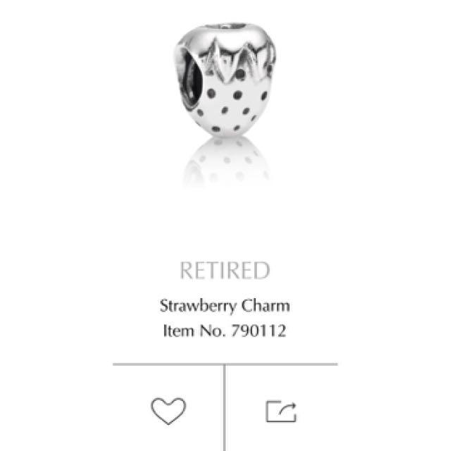 Pandora Strawberry Charm