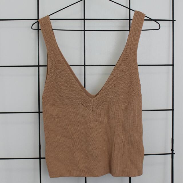 Pink / Beige Loose Knit Top