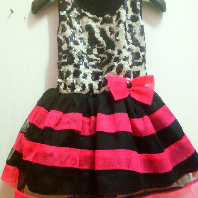 pink and black party dress for girls