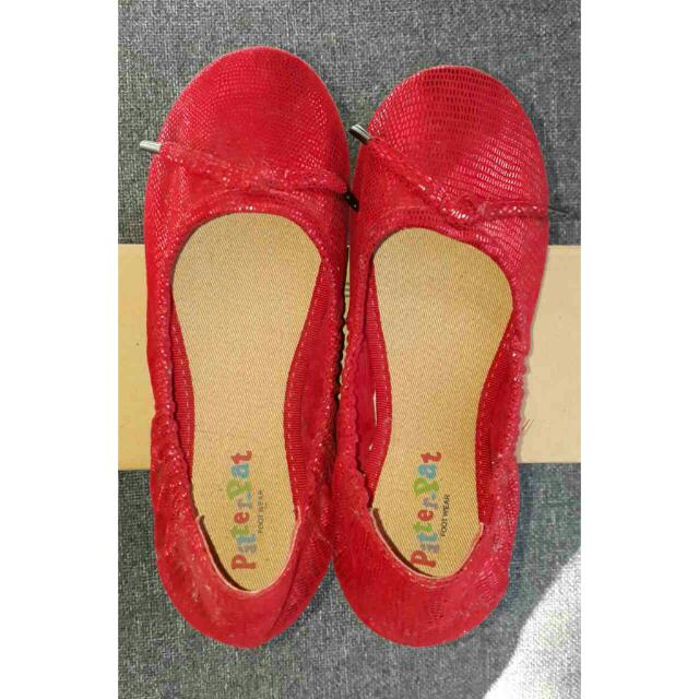 Pitter Pat Red Doll Shoes