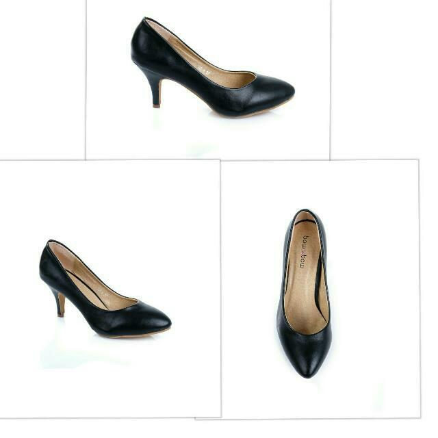 preloved high heels hitam