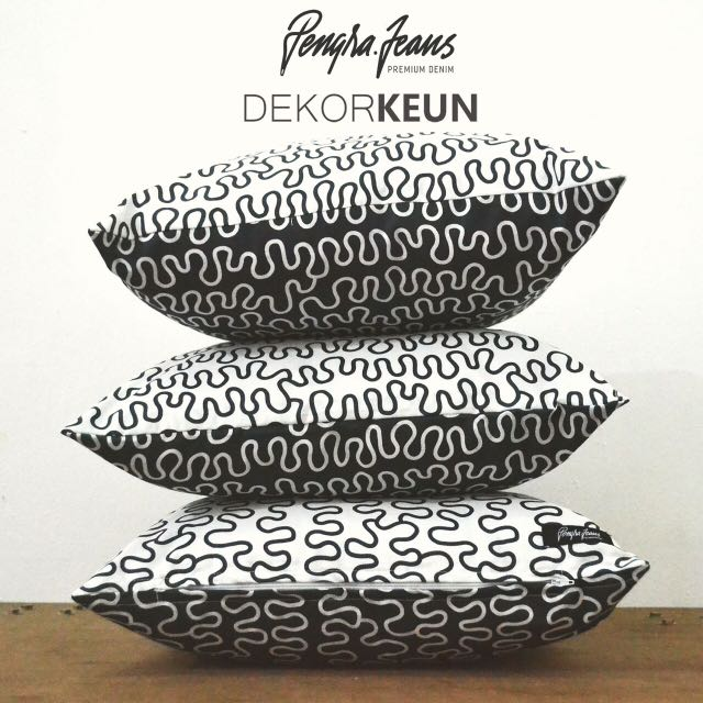 Sarung Bantal Sofa Cushion Motif 40x40