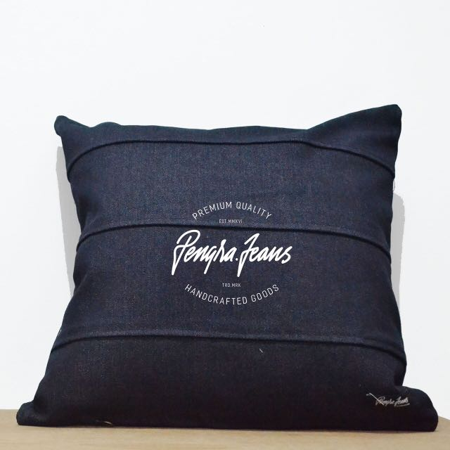 Sarung Bantal Cushion Sofa Denim 40x40