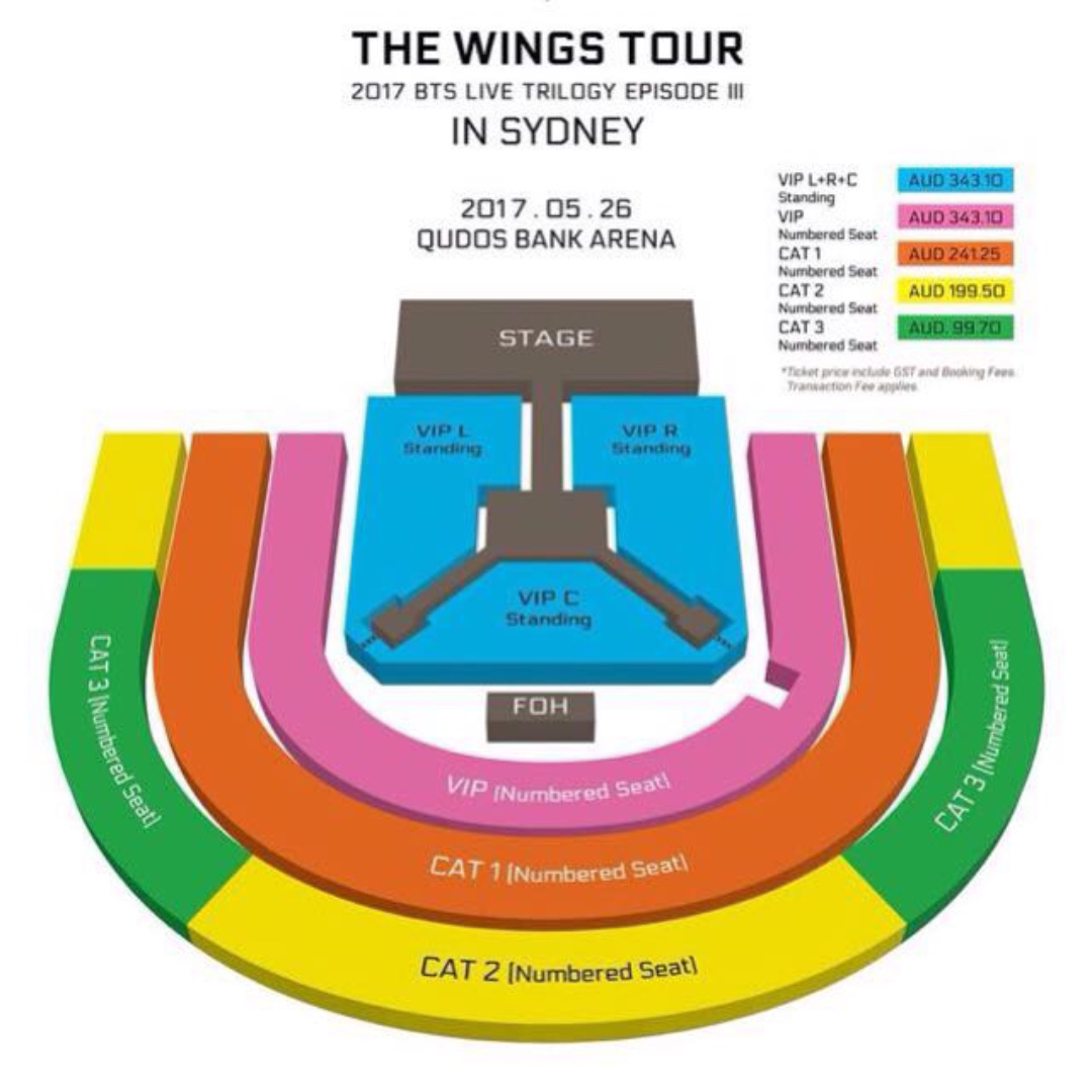 Selling 1x BTS VIP Seated ticket
