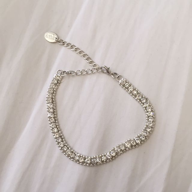 Silver Diamanté Braclet