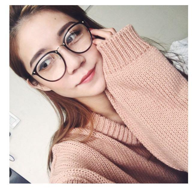 (含運)sivir 知性金邊圓框眼鏡(kelly有戴)