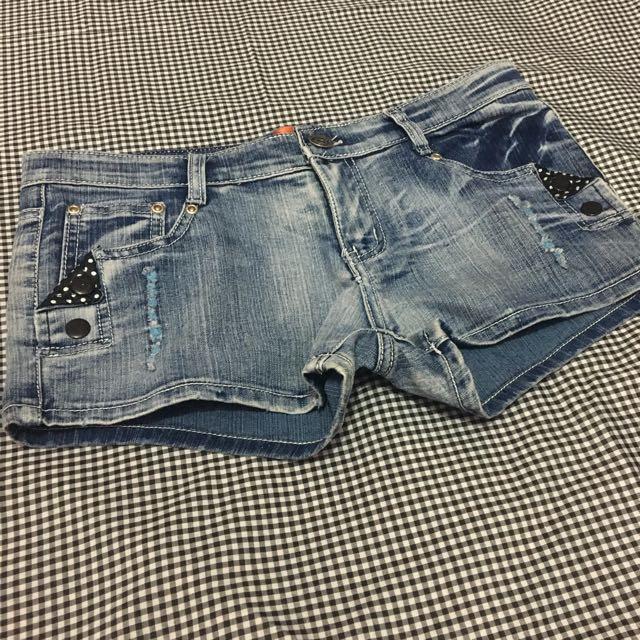 REPRICE Skull Hot Pants Jeans