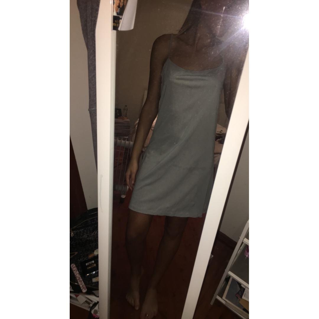 SLIP DRESS / LIGHT GREY