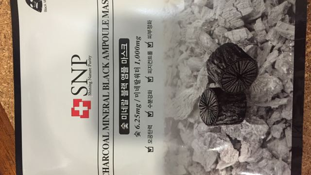 SNP Charcoal Mineral Black Ampoules Mask