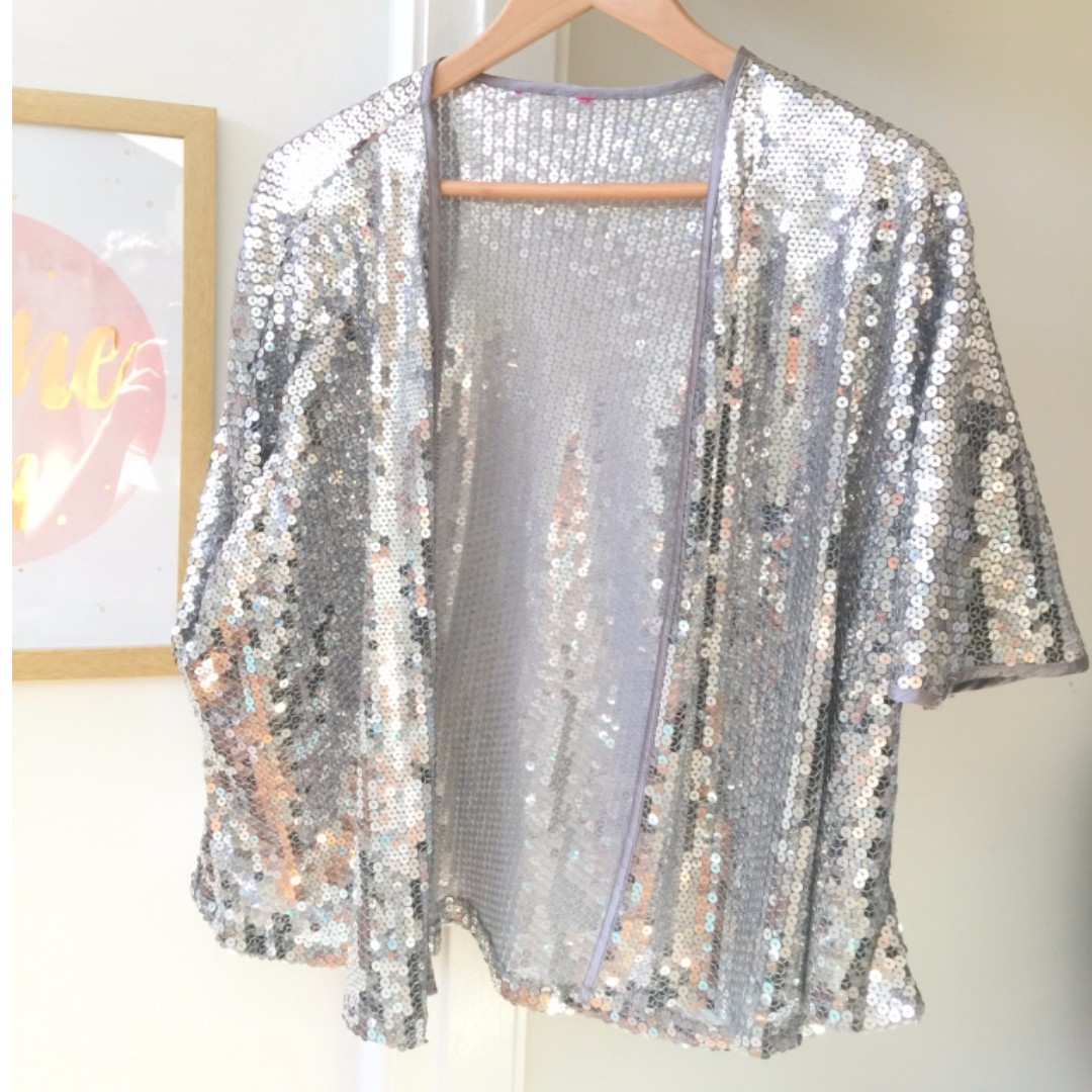 Sparkly sequinned bolero jacket OSFA