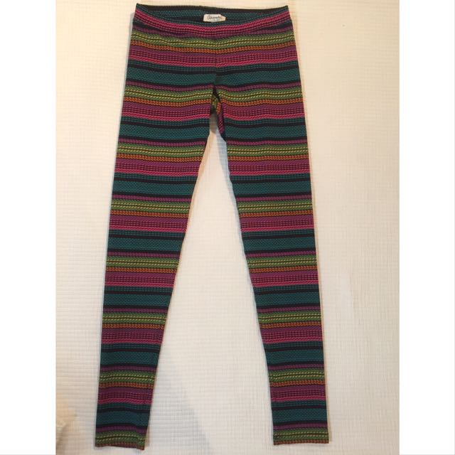 Striped Leggings; Lightly Used; Aeropostale; Size S