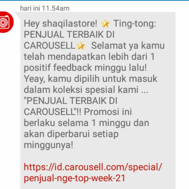 Thanks Carousell Telah Memberikan Testi