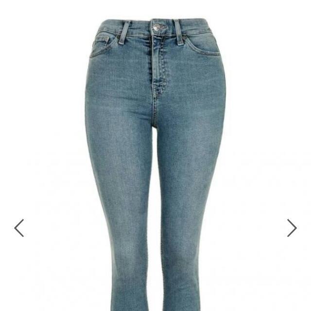Topshop Jamie Jeans In Blue