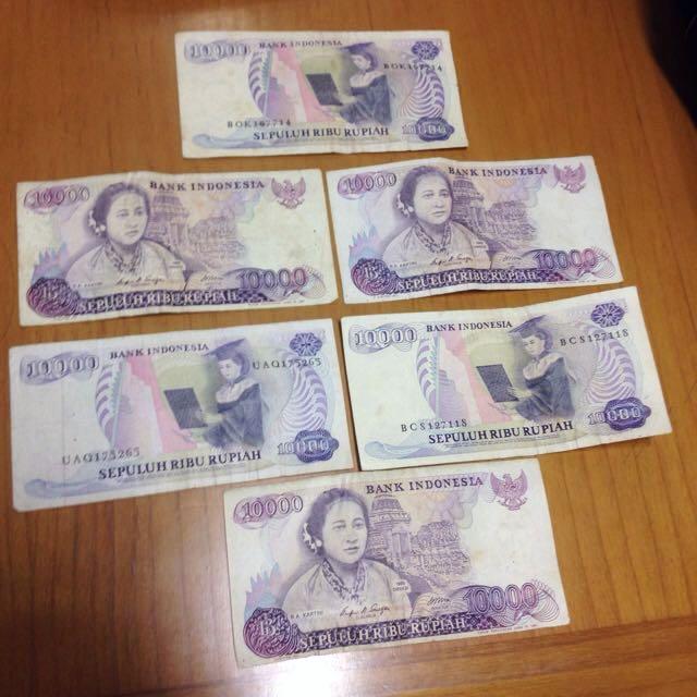 Uang Kuno Rp10.000 1985