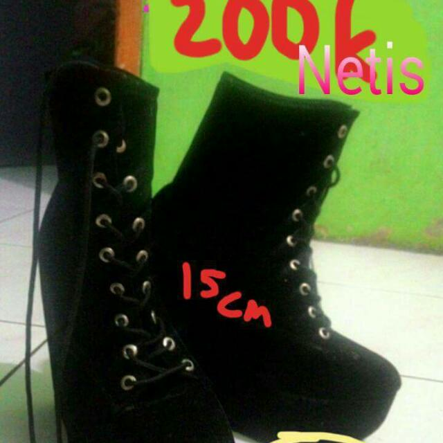 Wedges Boots Black brand