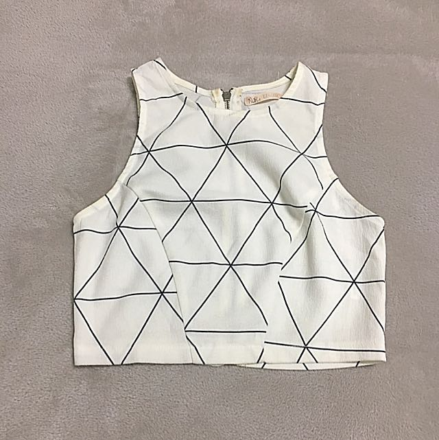 White Pattern Crop