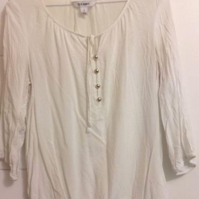 White Shirt Singed Bottom
