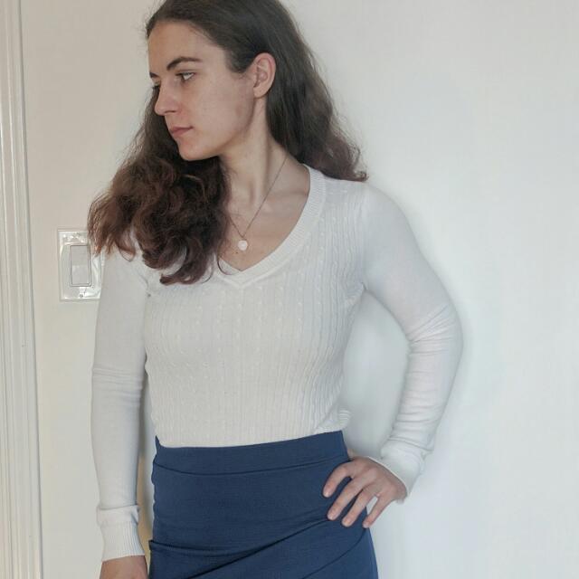 White Thin Sweater