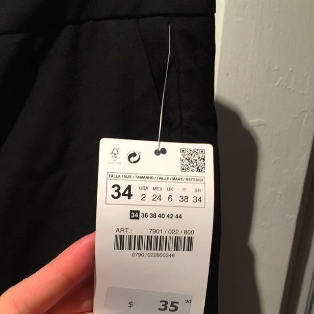 Zara New Black Skinny Dress Pants