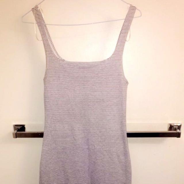 Zara Striped Bodycon Midi Dress