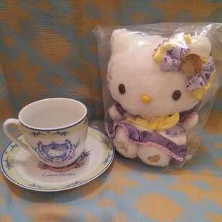 Crabtree & Evelyn Kitty 綠紫Tea Set