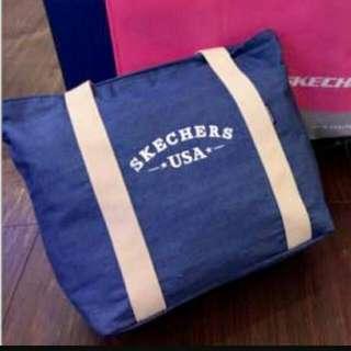 Skechers 牛仔托特包